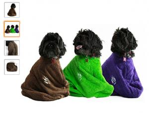 albornoz para perros tres colores