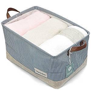 cesta de tela para baño