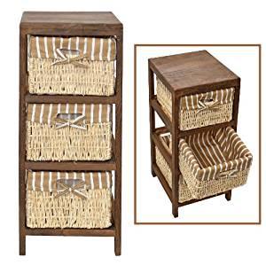armario vintage cestas baño