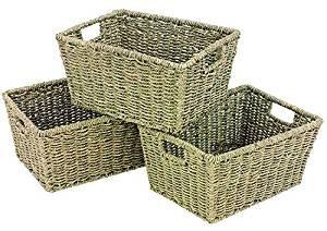 cestas para el baño de mimbre