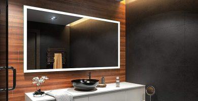 espejo iluminado baño
