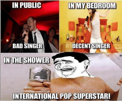 cantar en la ducha