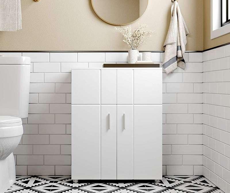 mueble baño suelo blanco 2 puertas